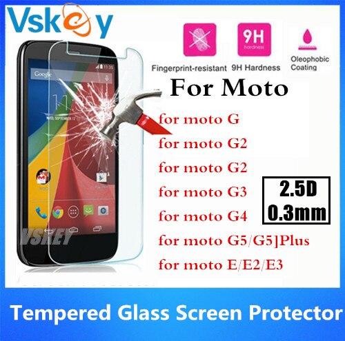 bilder für 20 stücke 2.5D Gehärtetem Glas Für Motorola Moto G G2 G3 G4 G5 Plus G4 Spielen Plus E2 E3 Anti-Splitter Schirm schutz