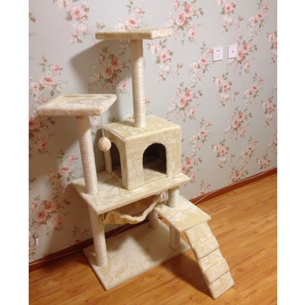 Aliexpress.com : Buy Elegant DIY Cute Cat Tree Tower Condo Scratcher  Furniture Felt Cats House Hammock Pet House Wholesale Price 50*60*150 From  Reliable ...