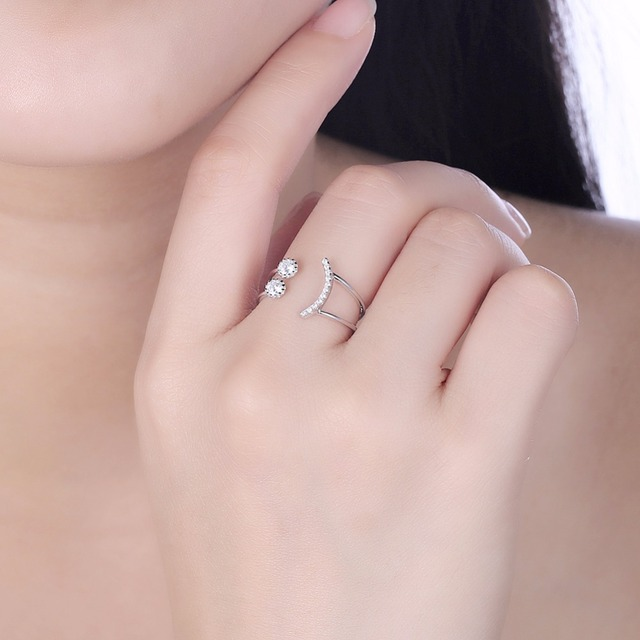 Smiley Face Sterling Silver Rings For Womens | Fashion Jewelry