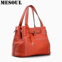 Luxury Casual Tote Bag Female Genuine Leather Designer Handbags High Quality Woman Shoulder Crossbody Bags Ladies Leather Brand