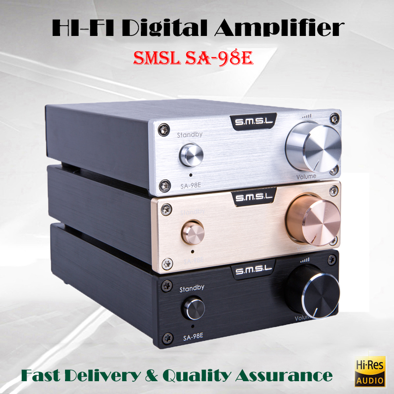 SMSL SA-98E Hifi Amplificateur de Puissance Audio Stéréo Amplificateur Classe d Amp Audio TDA7498E Portable Son Amplificateurs 160 w Amplificador