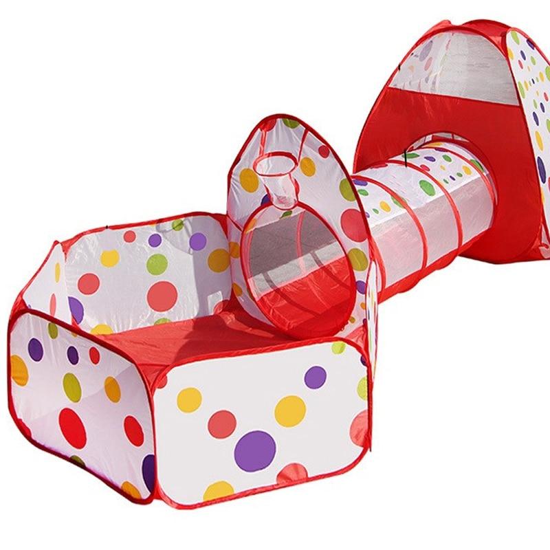 3 In 1 Kids Play Tent Baby Play Yard Ball Pool Pipeline Crawling Huge Game House Outdoor Indoor Baby Playpen Tienda Corralito
