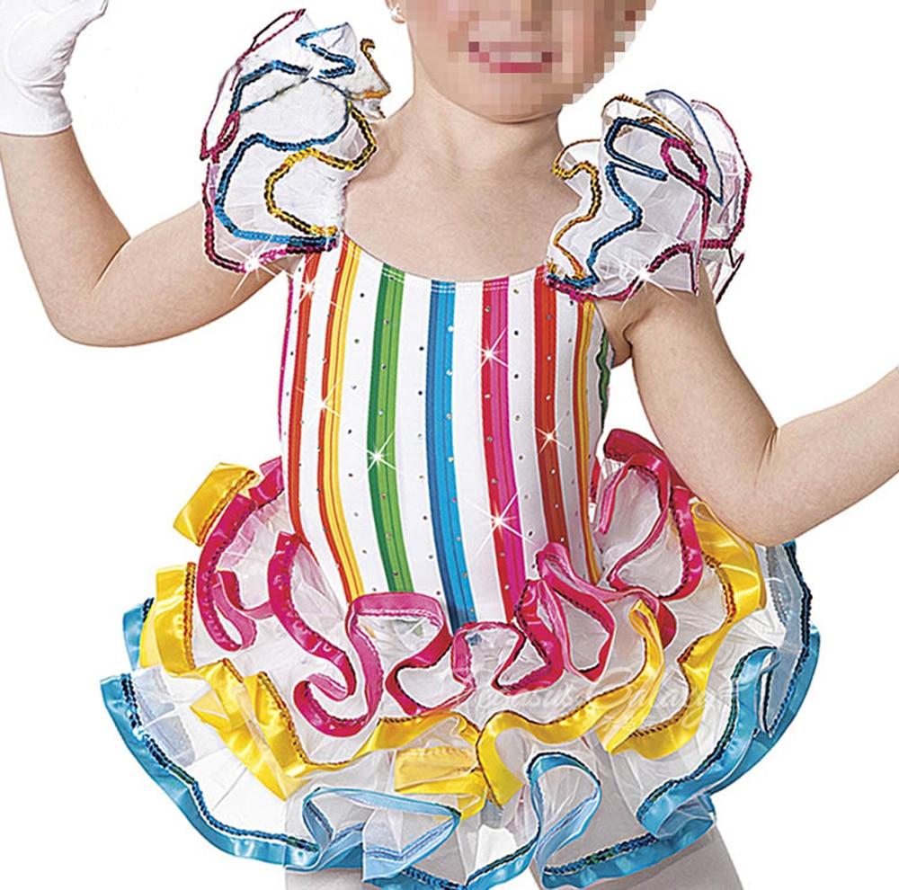 2020 Ballet Ballett Tutu Flickor Latin Dance Dress Kostymer för Girl Dancewear Ballroom Dancing Kjol Latino Vestido Baile Kids 5