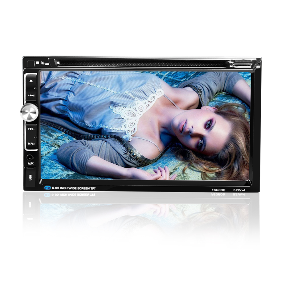 "Image 5 - 6060B Universal  2 Din Car DVD player 6.95"" Car Autoradio Video/Multi Media MP5 Player mp4 Car Stereo audio player-in Car CD Player from Automobiles & Motorcycles"