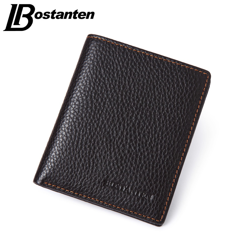 b9067c256d0 BOSTANTEN Brand Men Wallets Genuine Cowhide Leather Designer Male Purse  Luxury Brand Cheap Small Wallets Vintage Short Money Bag