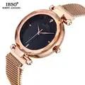 IBSO брендовые высококачественные женские наручные часы, модные блестящие дизайнерские часы с циферблатом для женщин, наручные часы с магнит...