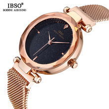 IBSO BRAND High Quality Women Wrist Watches Fashion Shining Dial Design Watch For Female Magnet Buckle Wristwatches