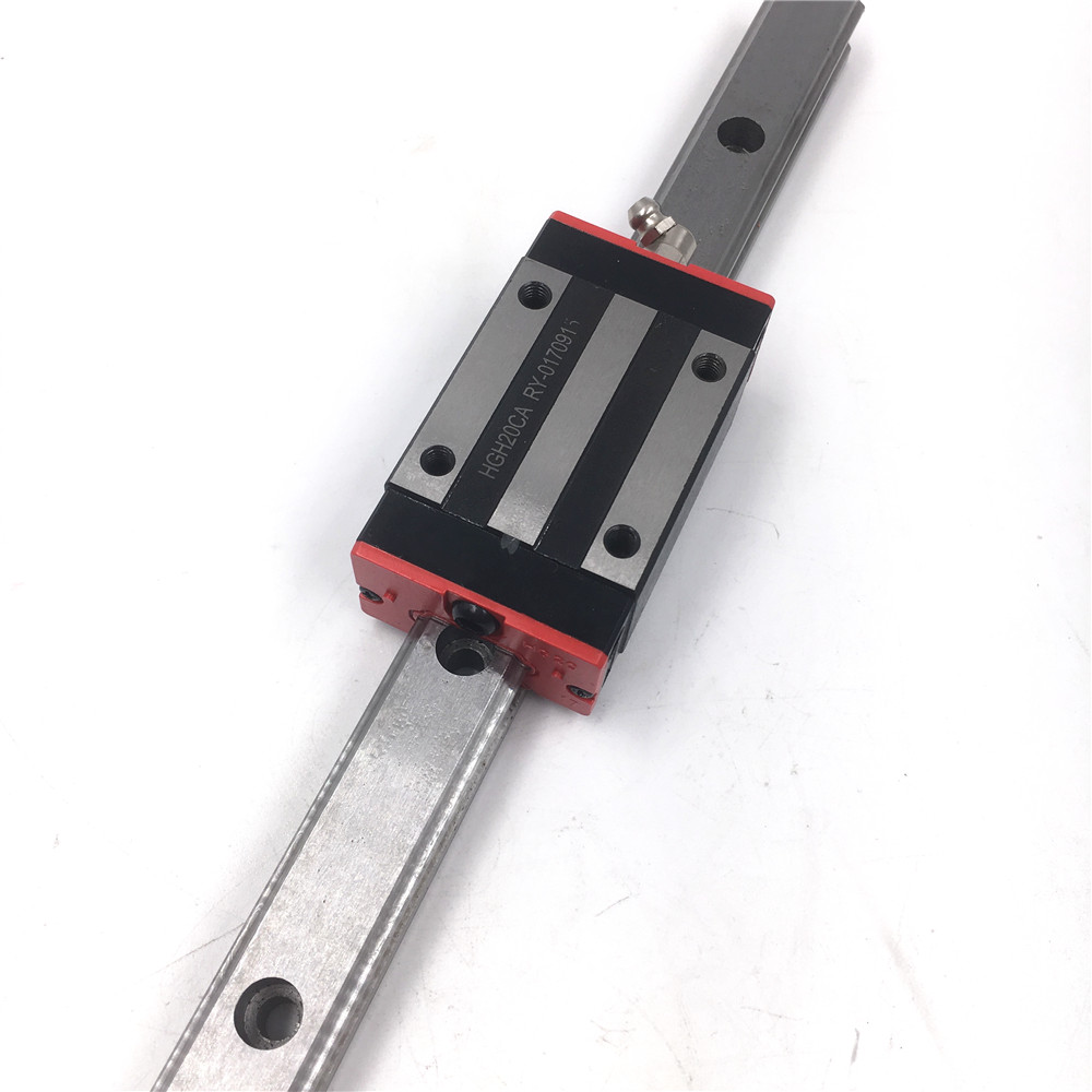 Length 1000mm HGR25 Linear Guideway 25mm Linear Motion Rail + 2pcs Rail Block HGH25CAZAC for CNC Router 3D Printer Replace HIWIN linear axis with toothed belt drive belt drive linear rail reasonable price guideway 3d printer linear way