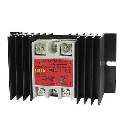 Temprature Control Solid State Relay HPR-25DA 4-32V DC 24-380V AC + Heat Sink