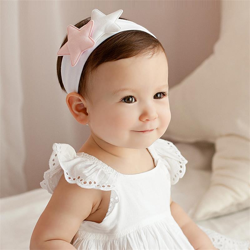 2016 Baby barn tjej huvudband Star cotton headband barn hår - Babykläder