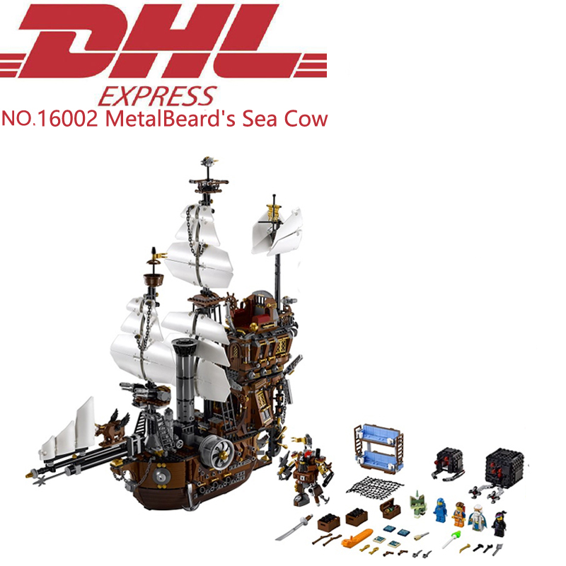 Lepin 16002 2791Pcs Pirate Ship MetalBeard's Sea Cow Model Building Kits Blocks Bricks Toys For Children Gift Compatible 70180 red pirate ship blocks compatible legoingly war pirate king character action diy bricks cannon building blocks toys for children