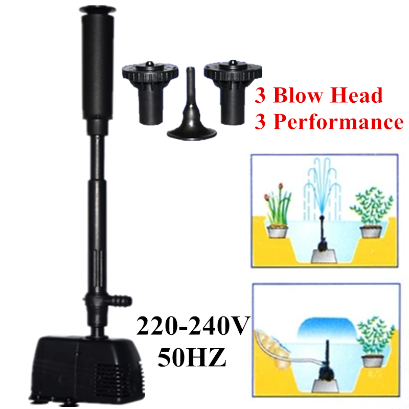 Aquarium Submersible Fountain Pump Fish Pond Oxygen Circulation Aquarium Fountain Maker Pump For Pond Garden Decoration