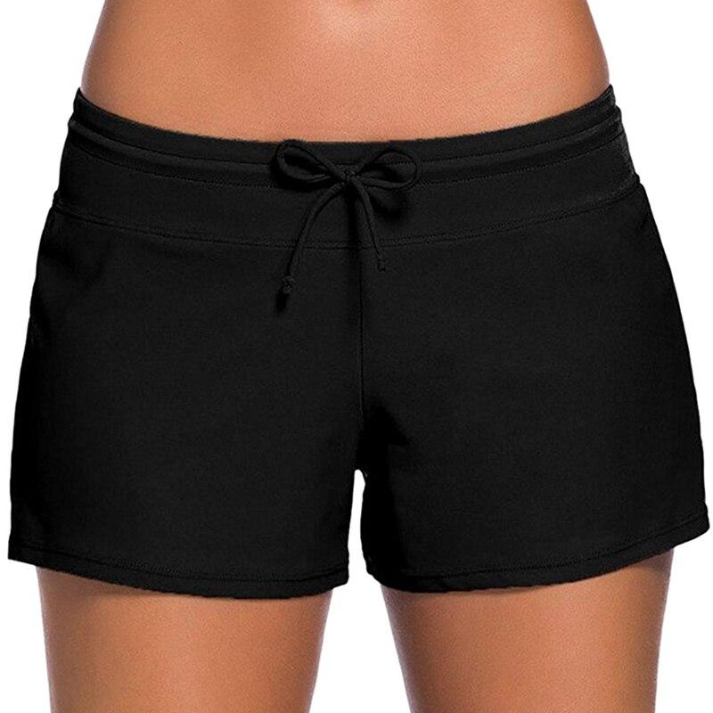 2018 new sexy women bikini bottom string waist short tankini sporty panty low-waisted swimwear boxer beach swim briefs black