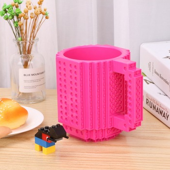 350ml Milk Mug Coffee Cup Creative Build-on Brick Mug Cups Drinking Water Holder for LEGO Building Blocks Design