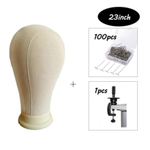 Professional Mannequin Head Set Cork Canvas Block Display Wig Making With 100pcs Tpins 1pcs Clamp 21/22/23/24/25