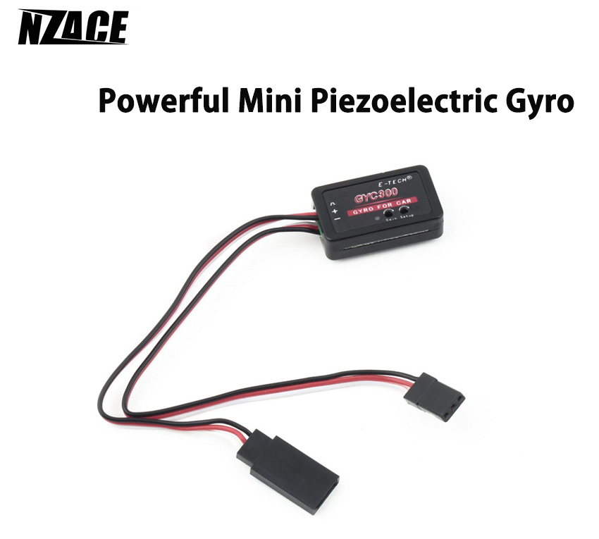 Super Low Impedance Low Heat Emission Powerful Mini Piezoelectric Gyro RC Car Tail-drive System Gyro for RC Cars Boats