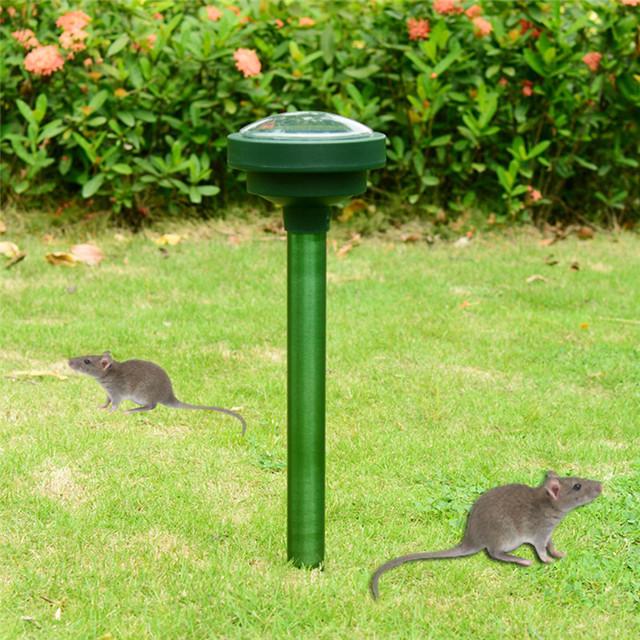2 sztuk Solar usg zwierząt wąż szczur gryzoni psy kot odstraszacz wibracji regulowany ogród artykuły gospodarstwa domowego do zwalczania szkodników