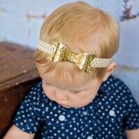 WENDYWU Baby Girls Glisten Bow Knot Headband Girls Bow Elasticity Headband Infant Kids Hair Accessories Muti