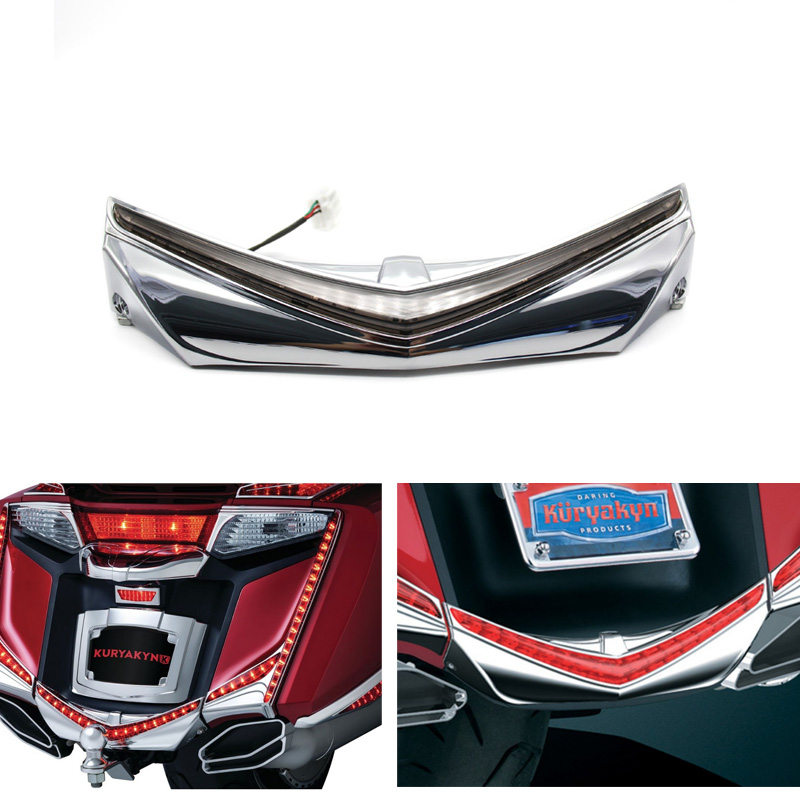 Hot sell Rear Fender Tip W/ RUN-BREAK ACCENT For Honda GL1800 GoldWing & F6B 2012-2016 15 air intake accent grilles led chrome case for honda f6b goldwing gl1800 goldwing 2012 2016