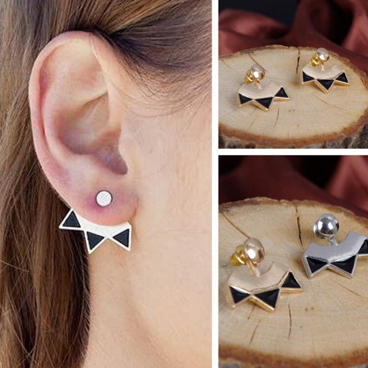 Vintage Metal Drops Of Oil Fan Triangle Shape Hanging Behind Ear Cuff Brinco Drop Earring Statement Earing For Women Gift In Earrings From Jewelry
