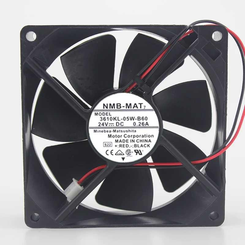 NMB New and original 9225 3610KL-05W-B60 24V 0.26A inverter dual ball bearing cooling fan 92*92*25mm
