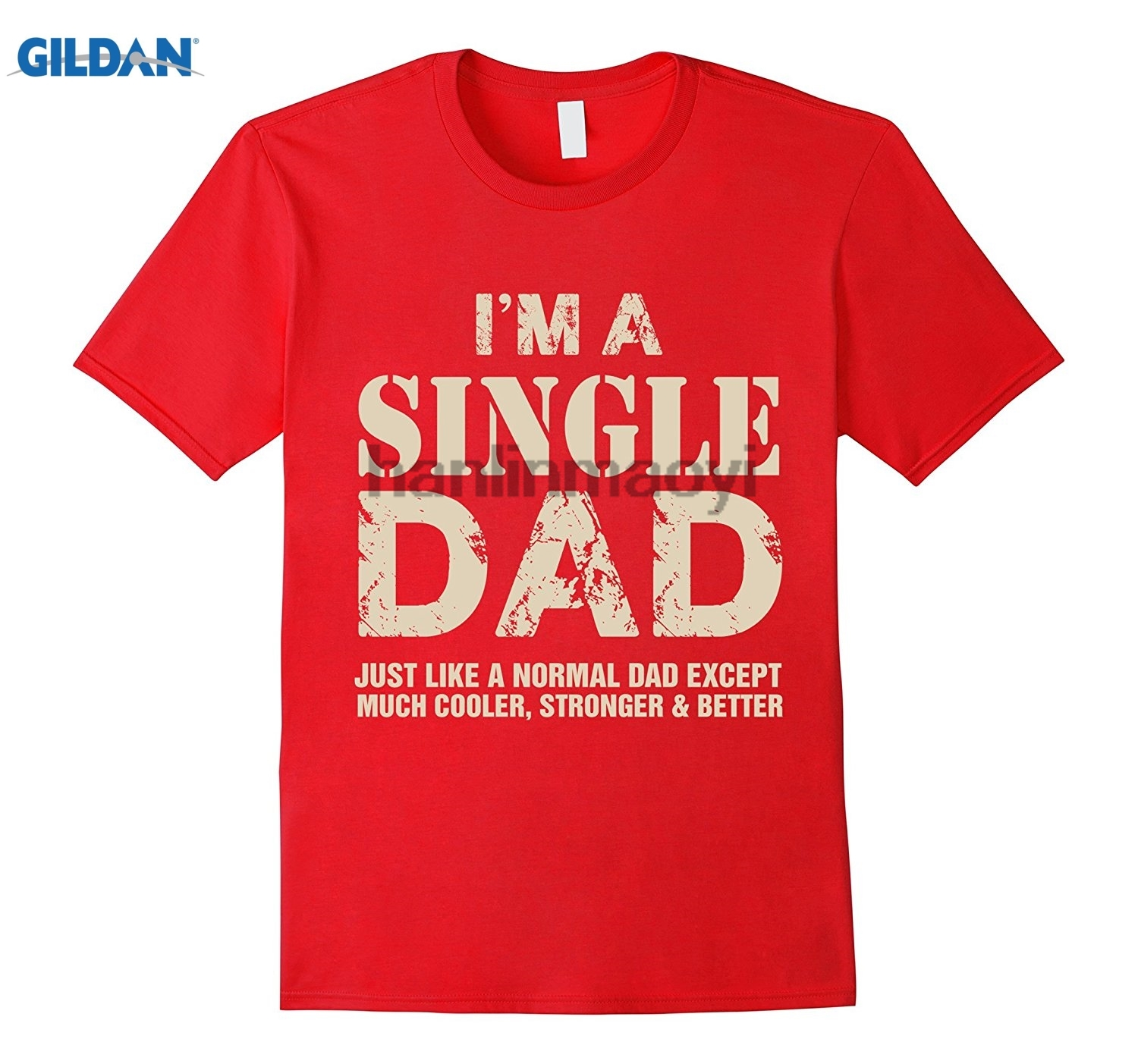GILDAN Mens Single Dad Gifts Father Day Gift Single Dad Cooler T-shirt