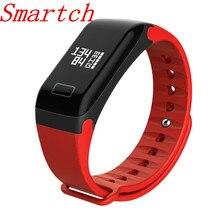 Smartch Smart группа крови оксиметр Давление F1 Смарт-часы браслет сердечного ритма Мониторы SmartBand Фитнес для Android IOS Телефон