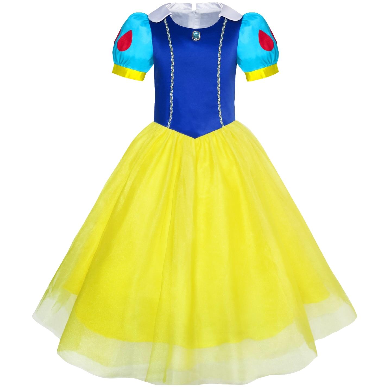 Cartoon Dressing Gown: Girls Dress Snow White Princess Cartoon Mermaid Party