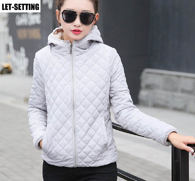 autumn winter velvet thickening lamb hair cotton hooded female jacket outwear sub-embroidered short coat S-2XL multi colors