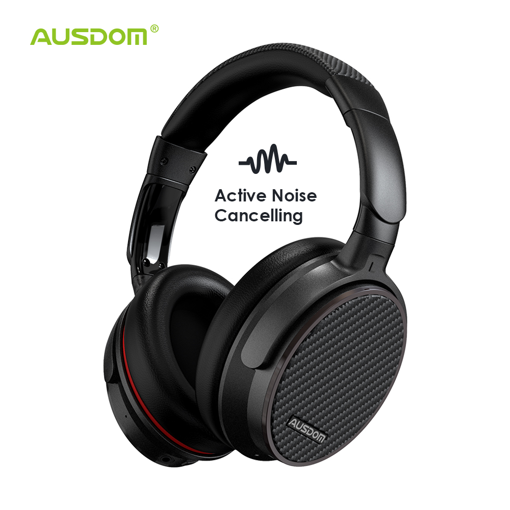 Ausdom ANC7S Active Noise Cancelling Wireless Headphones Bluetooth Headset with Mic Pure Sound for TV Sports