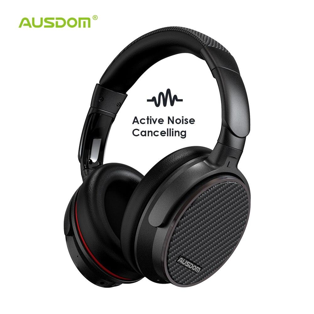 Casque sans fil antibruit actif Ausdom ANC7S casque Bluetooth avec micro son pur pour avion de métro sport TV