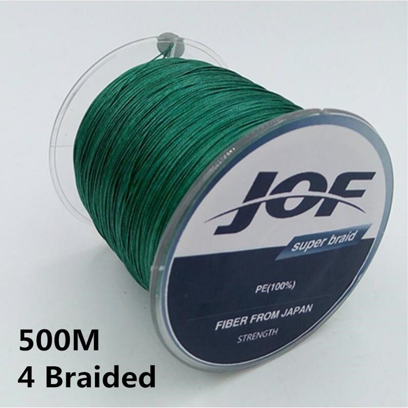 500M Strong 4 strands <font><b>Lines</b></font> Multifilament 100% PE 4 Braided Fishing <font><b>Line</b></font> Fishing wire 10LB 20LB 30LB 40LB 60LB 80LB 100LB #B0