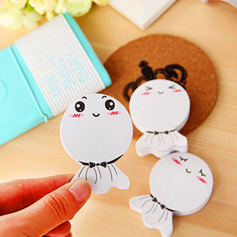 1 PC Creative Bright Day Dolls Cute Cartoon Memo Pad For The Students To Sign Stationery N times Sticky Notes Stationery
