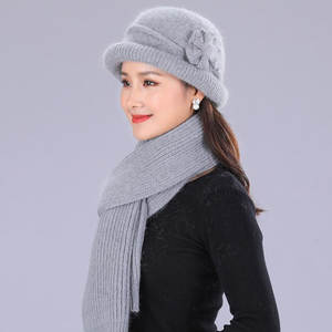 edd5b1cbcbf Knitted Female Scarf Hats Womens Winter Warm Beanies Caps