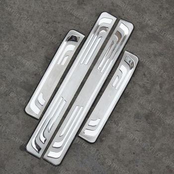4x Inoxidável Porta Exterior Peitoril Scuff Placa Guarnição Almofada Capa Para Honda Crv CR-V 12-16