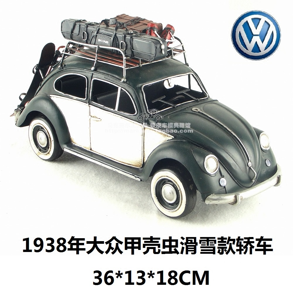 Car Craft Vw >> Hot Classic Motor Style Retro Volkswagen Beetle Car 1938 Model Creative Mini Iron Craft Best Gift Home Bar Decoration