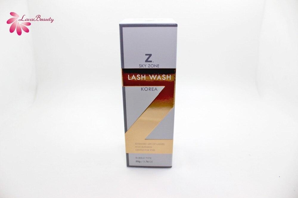Darmowa wysyłka 3 butelki/dużo Kore przedłużanie rzęs z pianki sky zone rzęs mycia do czyszczenia rzęs szampon z szczotka do 50 g/butelka w Kleje do rzęs od Uroda i zdrowie na  Grupa 1