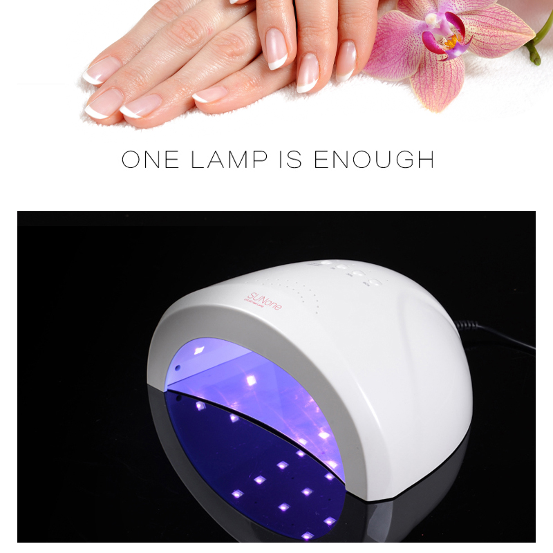 SUN ONE 48W/24W UVLED White Light Nail Dryer LED Nail Lamp Gel Nail Polish Dryer Fingernail Toenail Gel Curing Nail Art-in Nail Dryers from Beauty & Health    2