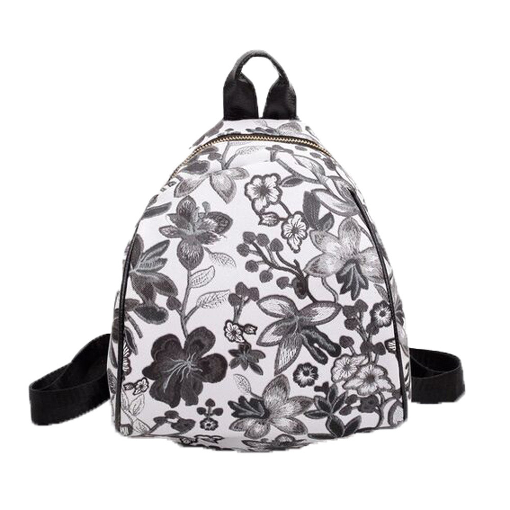 Vintage Embroidery Ethnic Canvas Backpack Flower Travel Bags Schoolbag Mochila Feminina SAC