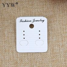 YYW 100pcs High Quality White PVC Earrings Jewelry Display Cards Holder Earring Display Cards 40*45mm Wholesale 2017