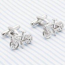 2018 High Quality Funny Cuff link Silver Plated Bike Cufflinks Classical Wedding Gemelos Men's Cufflings gift wholesale 37