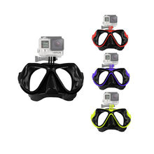 For Gopro Accessories Swim Glasses Diving Mask Mount For Gopro Hero7 6 5/2/3/3+/4 SJCAM SJ4000/5000/6000 For Xiaomi yi 4k Camera(China)