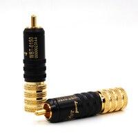 4 pces WBT 0150 24 k banhado a ouro rca telefone jack plug conector|connector 5mm|connector plug|connectors gold -