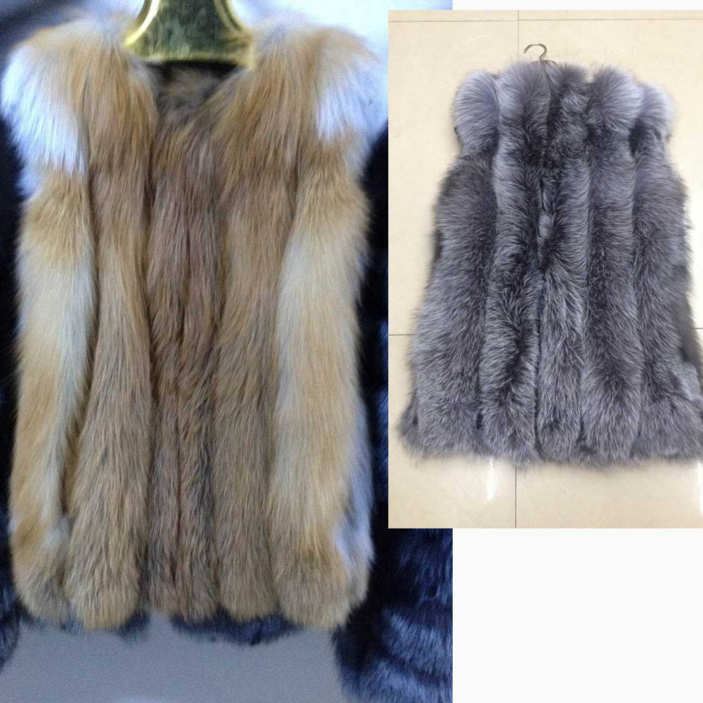 Red Fur Véritable Rouge D'hiver Fourrure Vêtements Réel Outwear Bon Renard Naturelle Gilet Silver silver Prix Fur Fox De 2019 Femmes Femelle IpUqTaCaw