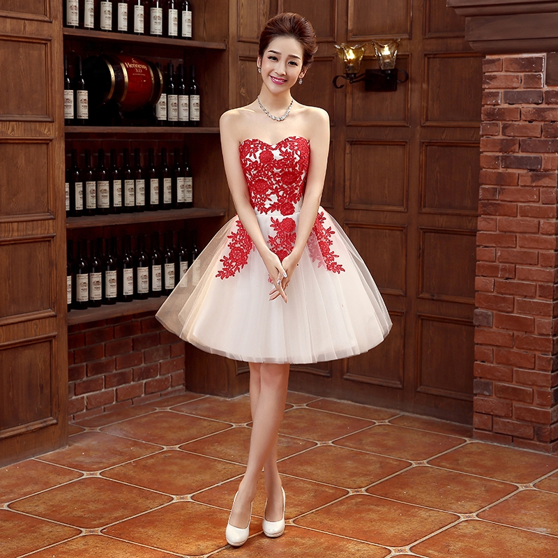 e506279d4 New Arrival Cheap Sexy Sweetheart Lace Prom Dresses Short Ball Gown ...
