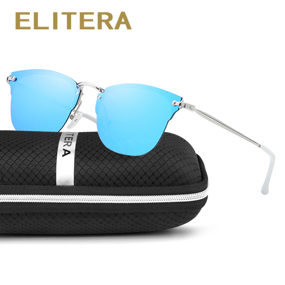 ELITERA Brand Design Cat Eye Polarized Sunglasses Women Cool Vintage Female Sun Glasses Shades Eyewear Gafas Oculos UV400