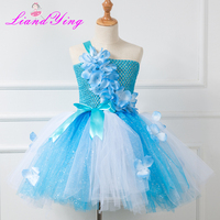 4a6b3aba2b Baby Girls Dress Anna Elsa Cosplay Costume Summer Dresses Girl Princess Elsa  Dress For Birthday Party