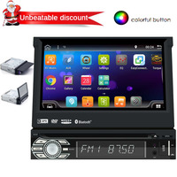 7 Inch Android 6.0 Car Stereo HD Detachable Touch Screen 1Din In Dash Bluetooth Car Radio DVD Player GPS Navigation Support Wifi
