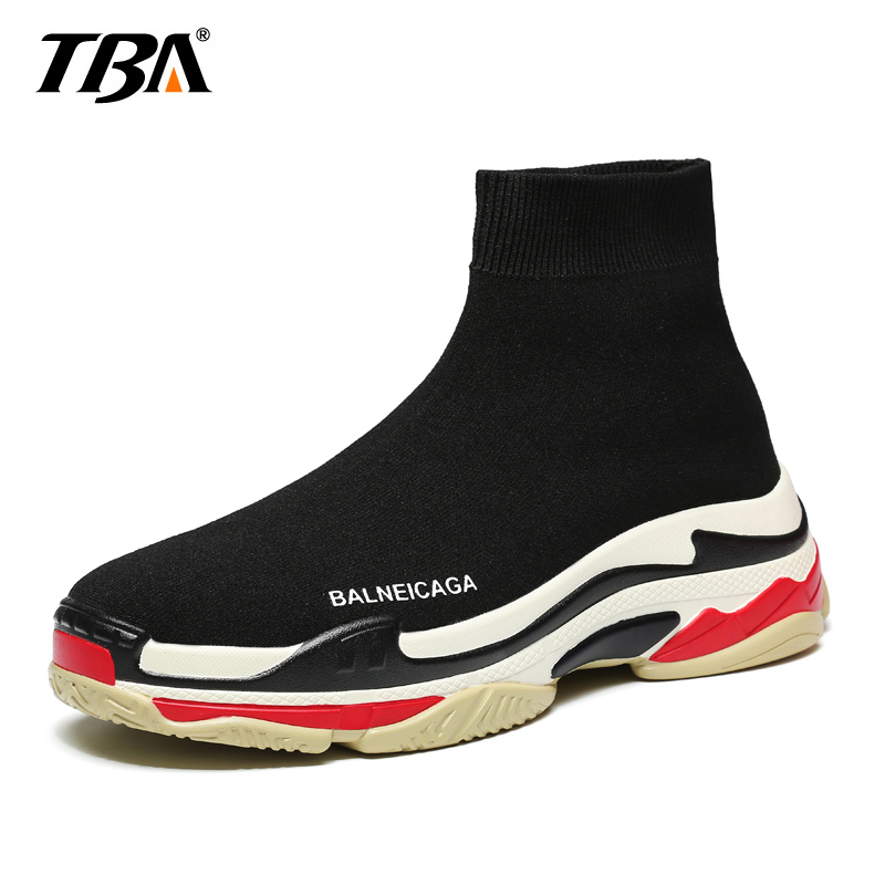 TBA Fly Weaving Men Casual Shoes Colorful Slip On High Top Sock Shoes Lightweight Men Sn ...