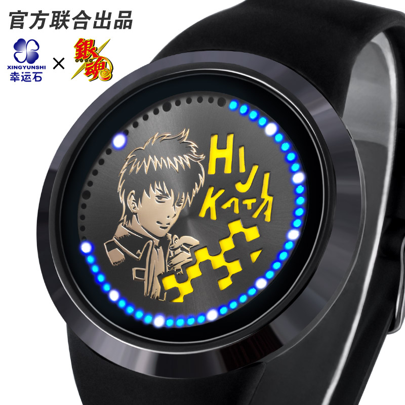 GINTAMA LED Watch Waterproof Anime Watches Manga Role Gintoki Kagura Sadaharu Comics Cartoon Best Friend Gift in Action Toy Figures from Toys Hobbies